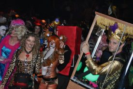 Revelers got up as Circus Freaks at M.O.M.s Ball 2011