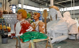 The company's huge inventory of props — depicting a multitude of themes and famous characters from history, literature and myth — are constantly being recycled and refurbished for use on Mardi Gras floats as well as for sale and rental to themed attractions and event producers.